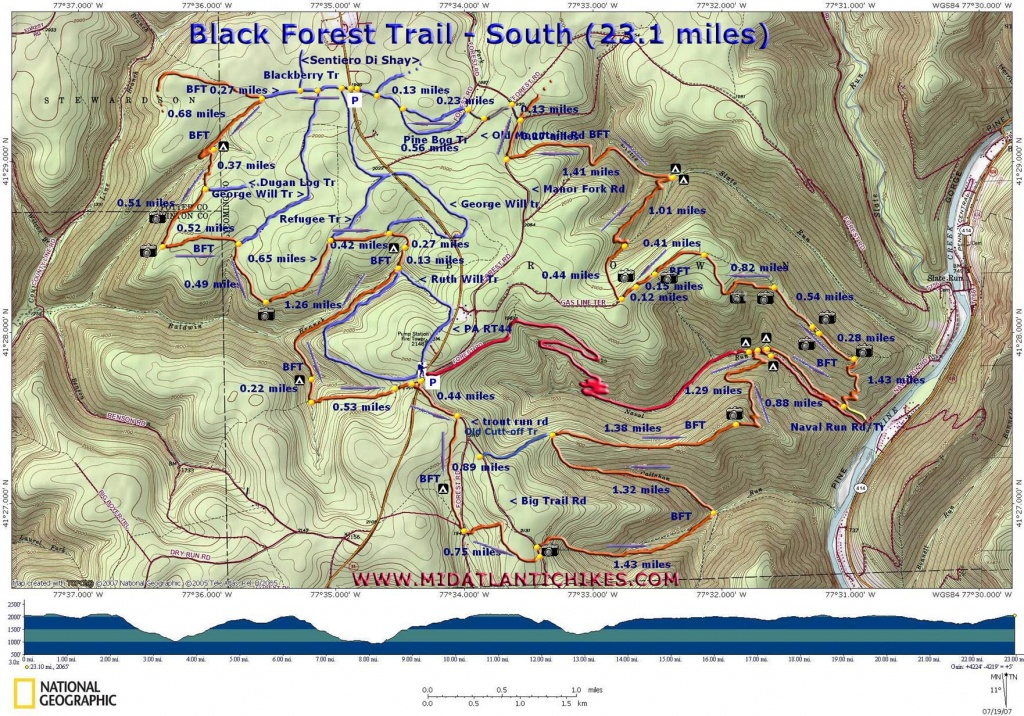 Black Forest Trail - Printable Hiking Maps