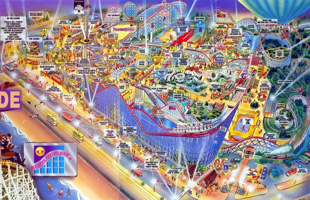 Blackpool Pleasure Beach Map | Nostalga | Blackpool Pleasure Beach - Blackpool Tourist Map Printable