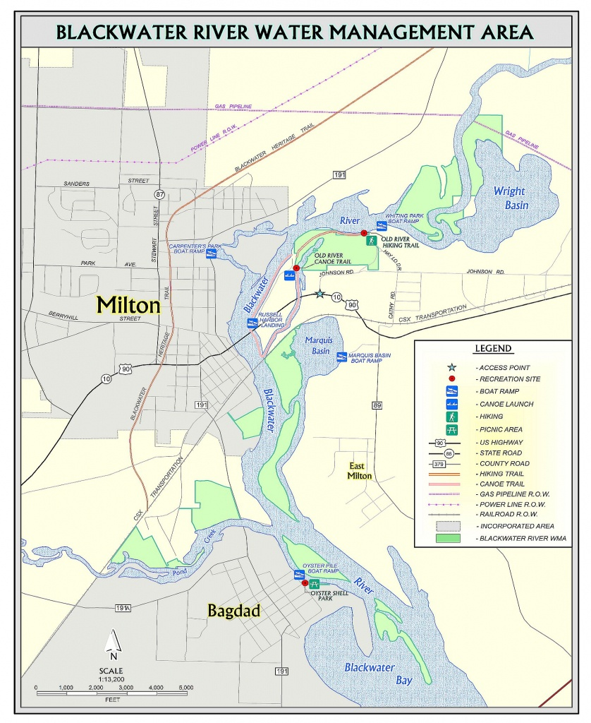 Blackwater River | Northwest Florida Water Management District - Coldwater Creek Florida Map
