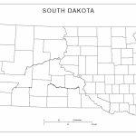 Blank County Map Of South Dakota   South Dakota County Map Printable