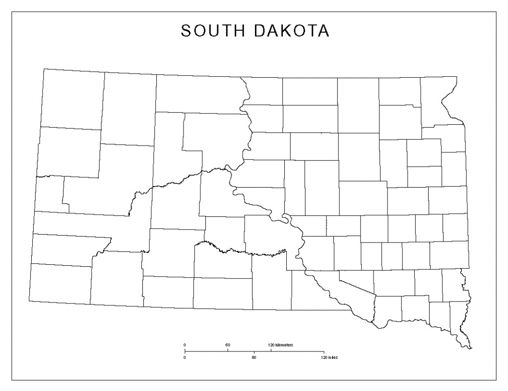 Blank County Map Of South Dakota - South Dakota County Map Printable