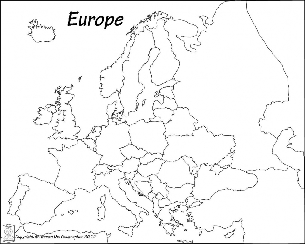 Blank Europe Political Map - Maplewebandpc - Printable Blank Map Of European Countries