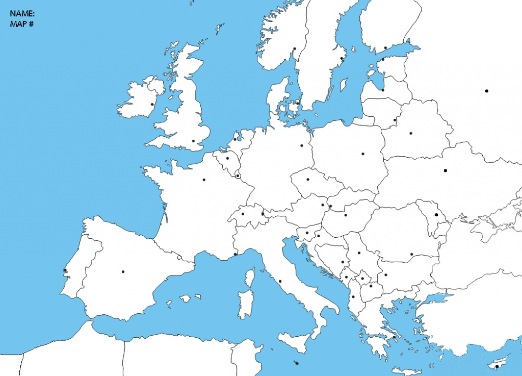 Blank Europe Political Map   Sitedesignco - Blank Political Map Of Europe Printable