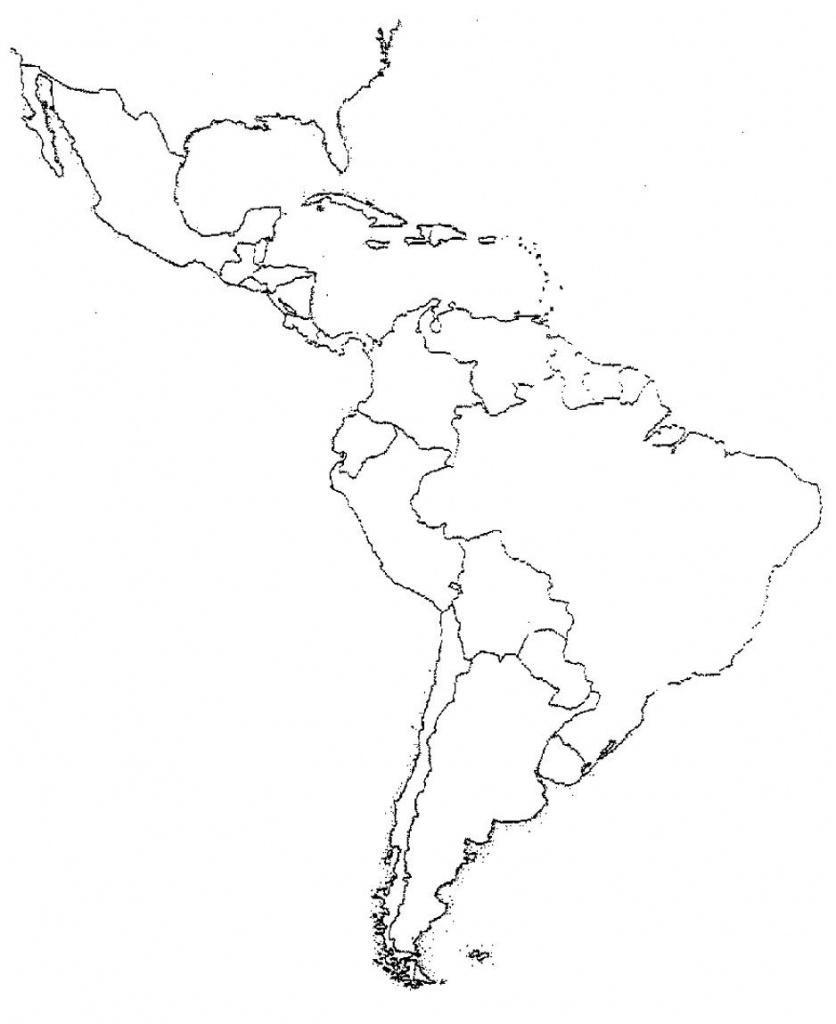 Blank Latin America Map Quiz   Social Studies   Latin America Map - Latin America Map Quiz Printable