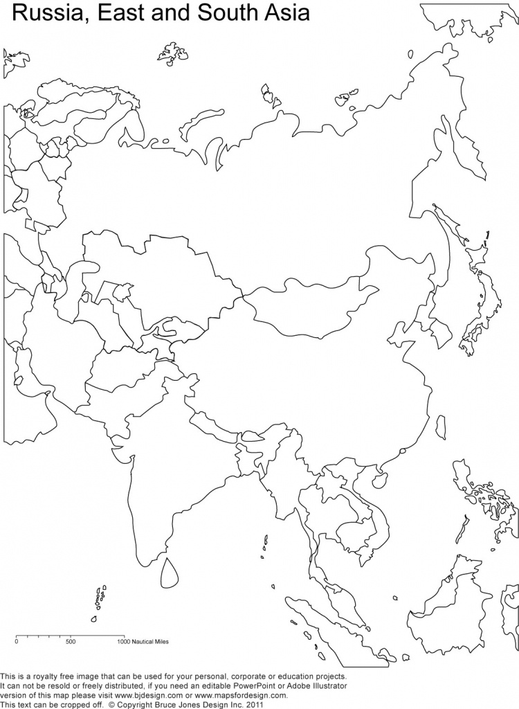Blank Map Of Asia Countries Maps Update Printable With At Asian - Printable Map Of Asia With Countries