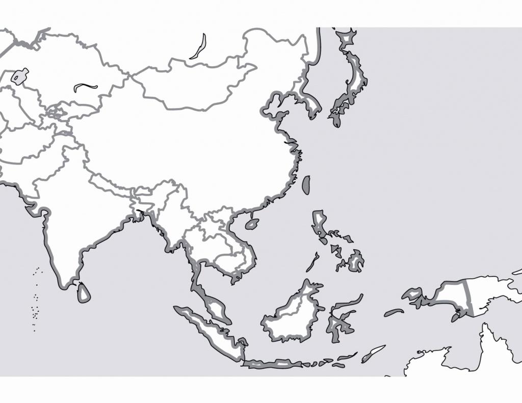 Blank Map Of Asia Printable Elegant East Asia Blank Map Quiz - Blank Map Of Asia Printable
