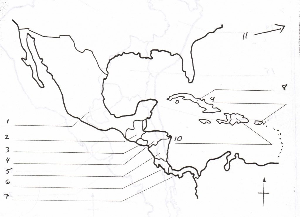 Blank Map Of Central America And Caribbean Islands - America Map - Free Printable Map Of The Caribbean Islands