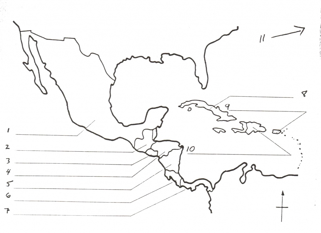 Blank Map Of Central America And Travel Information | Download Free - Central America Outline Map Printable