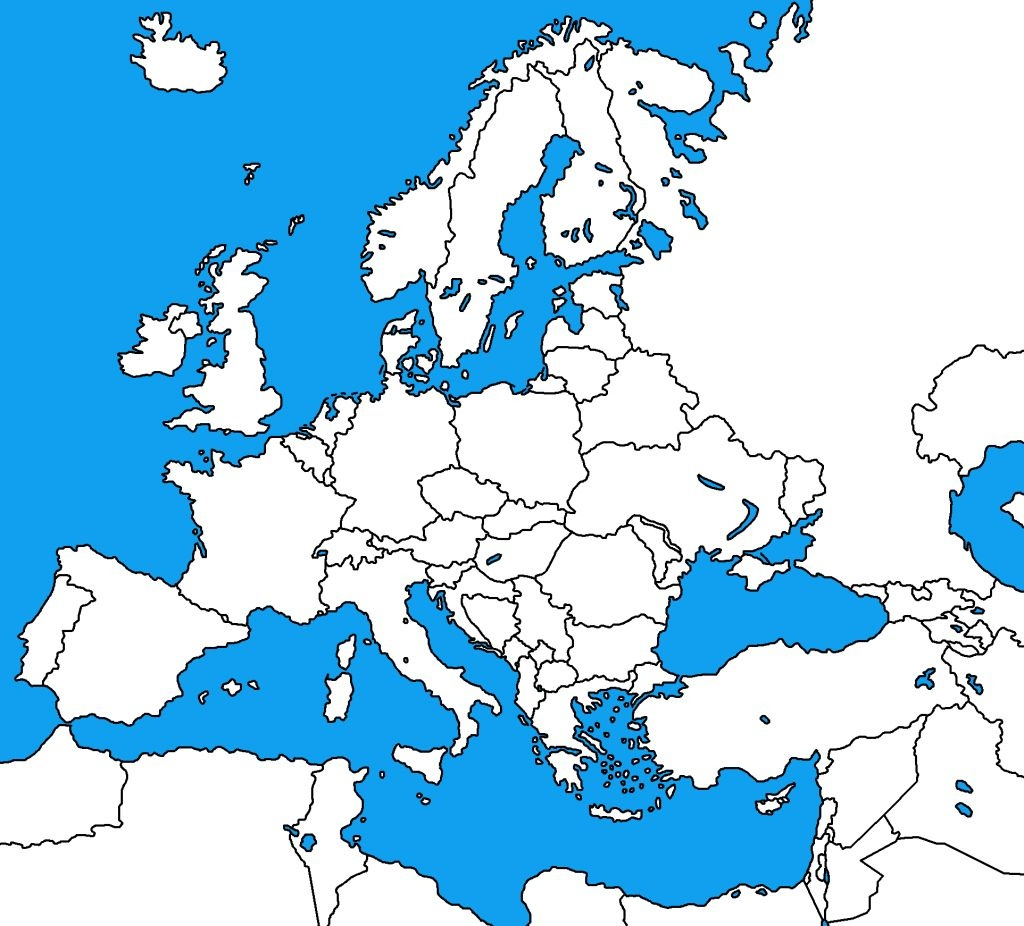 Blank Map Of Europe 1914   : Blank Map Of Europe - Blank Map Of Europe 1914 Printable