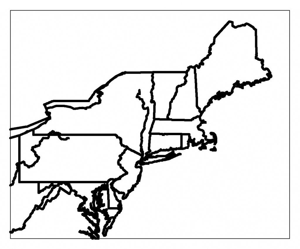 Blank Map Of Northeast Region States | Maps | Printable Maps, Map - Printable Map Of The Northeast
