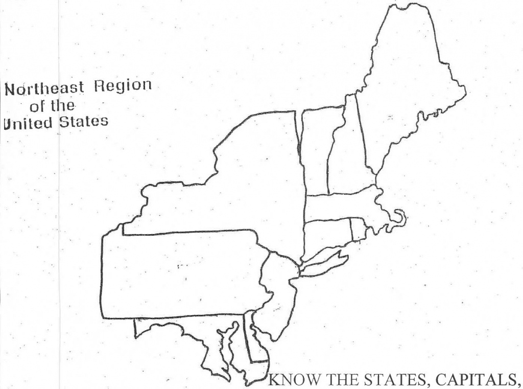 Blank Map Of Northeast Us And Travel Information | Download Free - Printable Map Of Northeast States