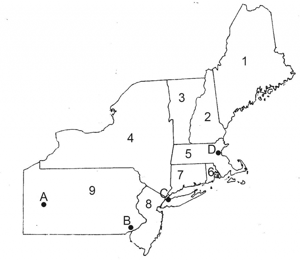 Blank Map Of Northeast Us And Travel Information | Download Free - Printable Map Of The Northeast