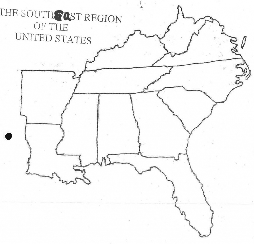 Blank Map Of Southeast Usa | Sitedesignco - Southeast States Map Printable