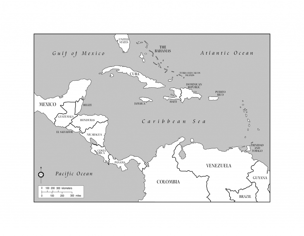 Blank Map Of The Caribbean And Travel Information | Download Free - Printable Blank Caribbean Map