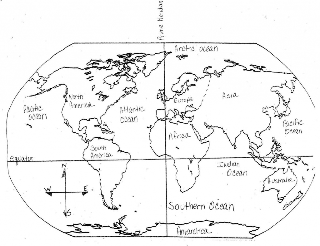 Blank Maps Of Continents And Oceans And Travel Information - Continents And Oceans Map Quiz Printable
