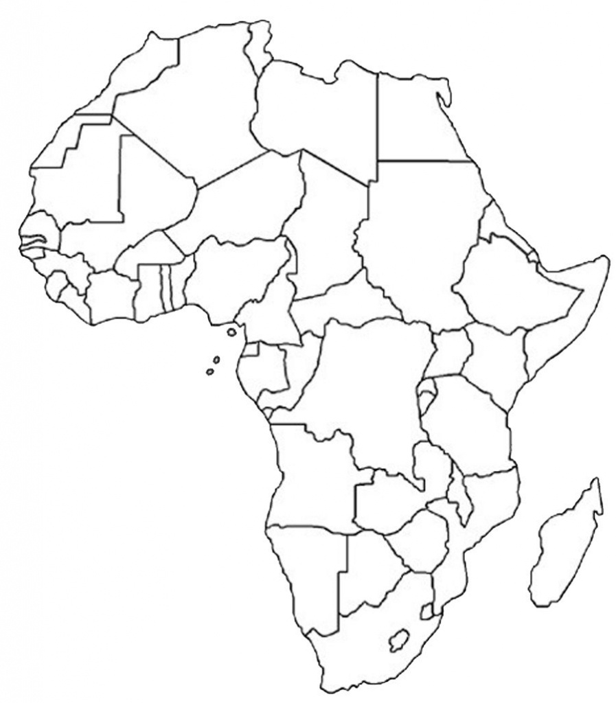 Blank Outline Map Of Africa | Africa Map Assignment | Party Planning - Blank Political Map Of Africa Printable