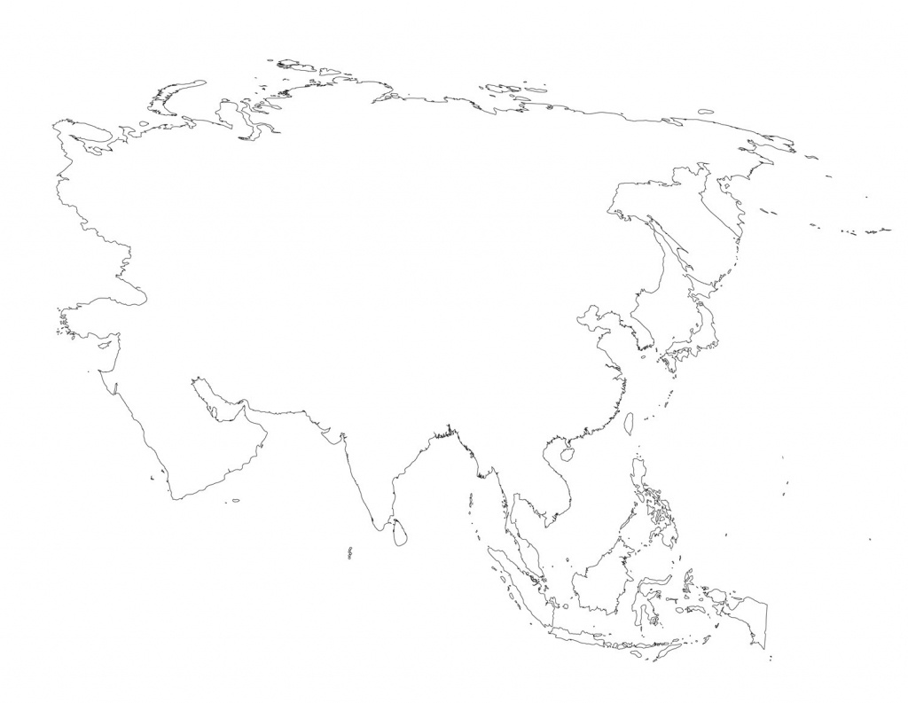 Blank Outline Map Of Asia Printable 0 - World Wide Maps - Blank Outline Map Of Asia Printable