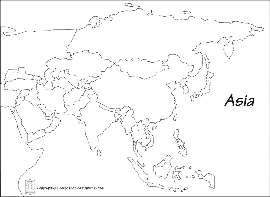Blank Outline Map Of Asia Printable 0 - World Wide Maps - Free Printable Outline Maps