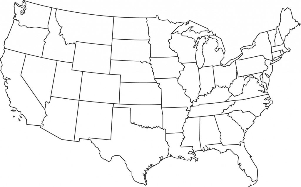 Blank Printable Map Of The Us Clipart Best Clipart Best   Centers - Us Map Test Printable