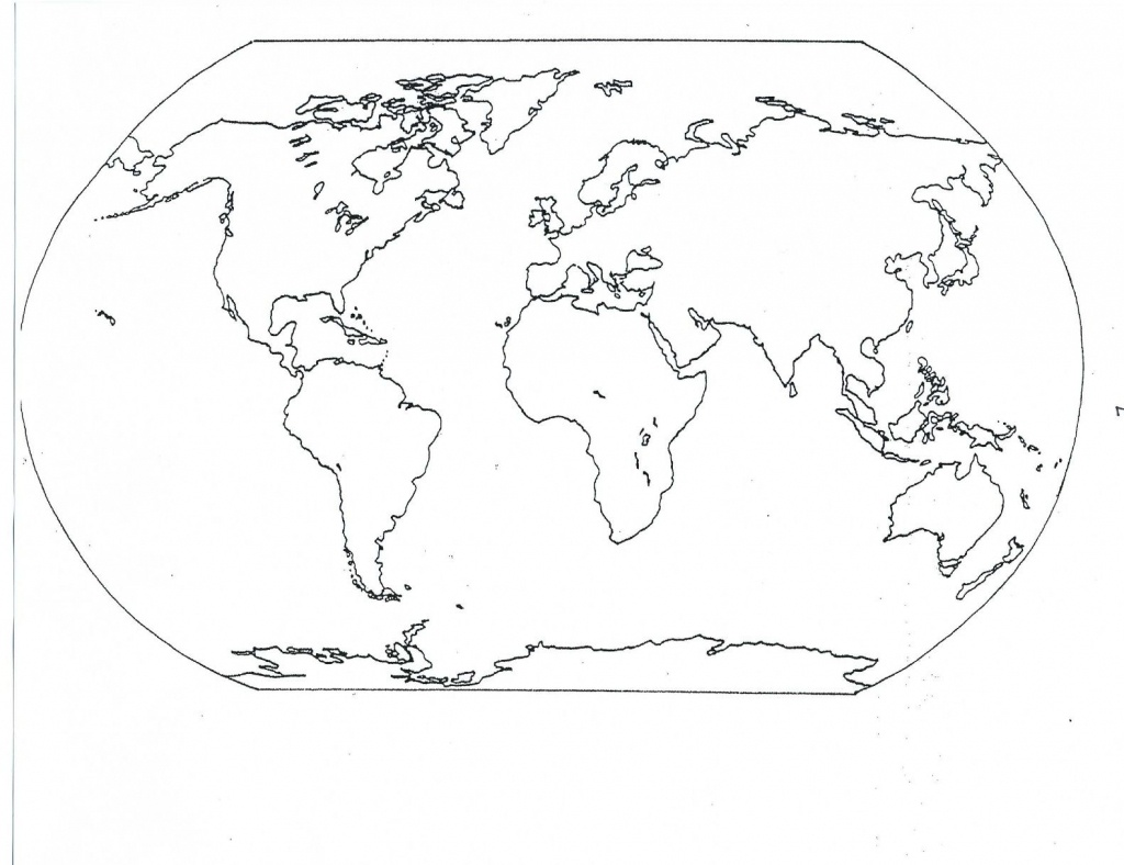 Blank Seven Continents Map   Mr.guerrieros Blog: Blank And Filled-In - Map Of Continents And Oceans Printable