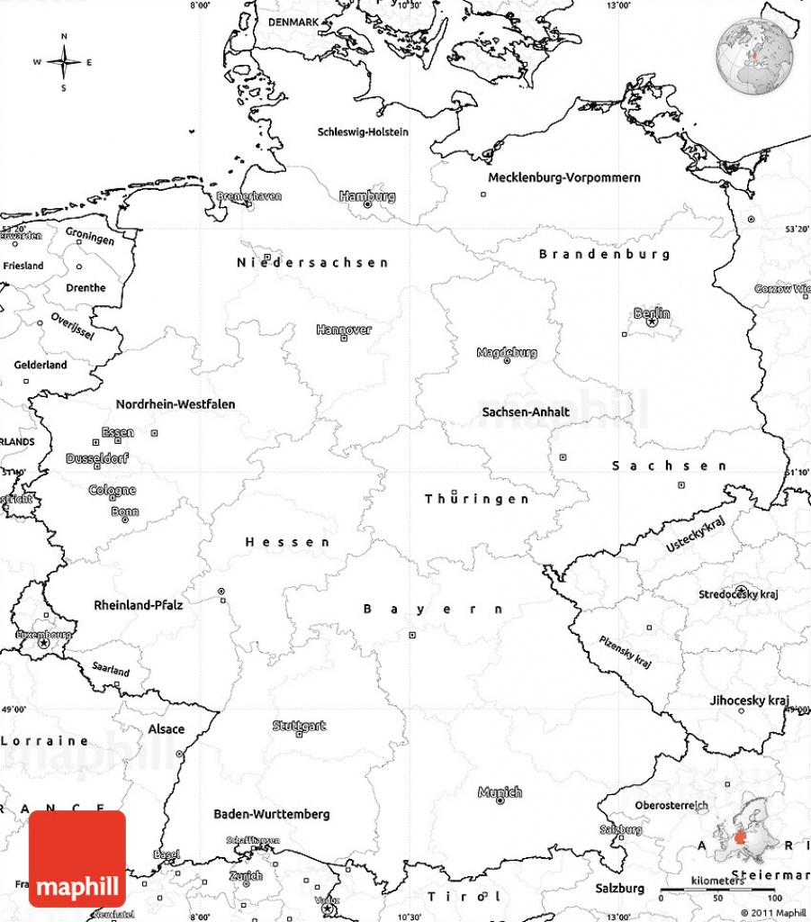 Blank Simple Map Of Germany - Large Printable Map Of Germany