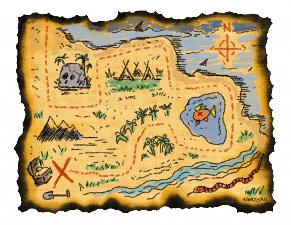 Blank Treasure Map Templates For Children - Printable Treasure Map Template