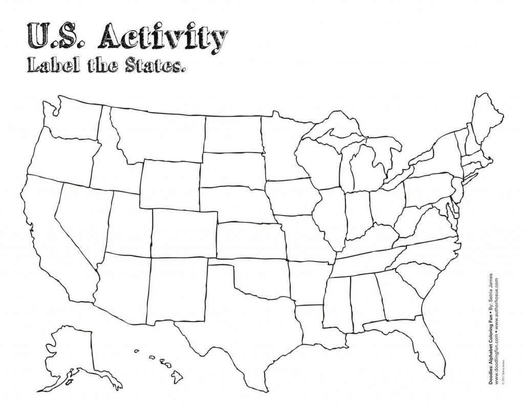 Blank Us Map For Capitals - Capitalsource - Blank States And Capitals Map Printable