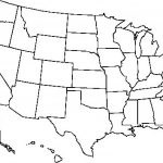 Blank Usa Map Free Outline Of Us United States Pdf At   Printable Usa Map Outline