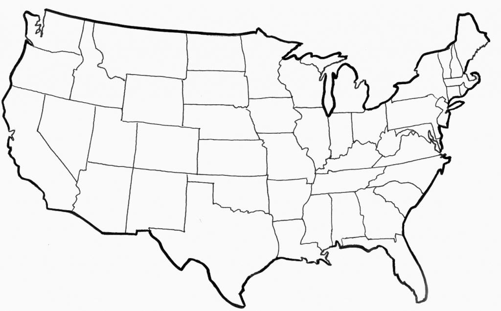 Blank Usa Map Fresh Us Map Test Printable Usa State Map Test Blank - Blank Printable Usa Map
