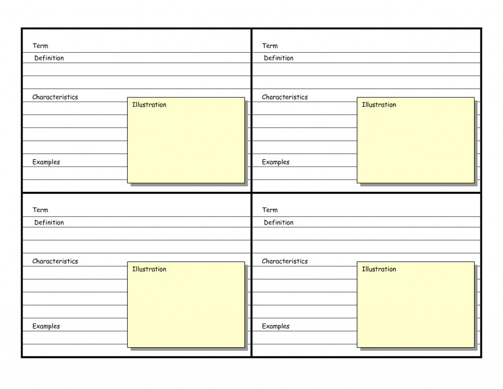 Blank Vocabulary Card Template | Frayer Models | Vocabulary Flash - Vocabulary Maps Printable Free