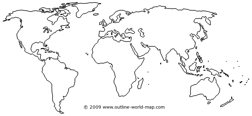 Blank World Map Image With White Areas And Thick Borders - B3C   Ecc - Blank World Map Printable