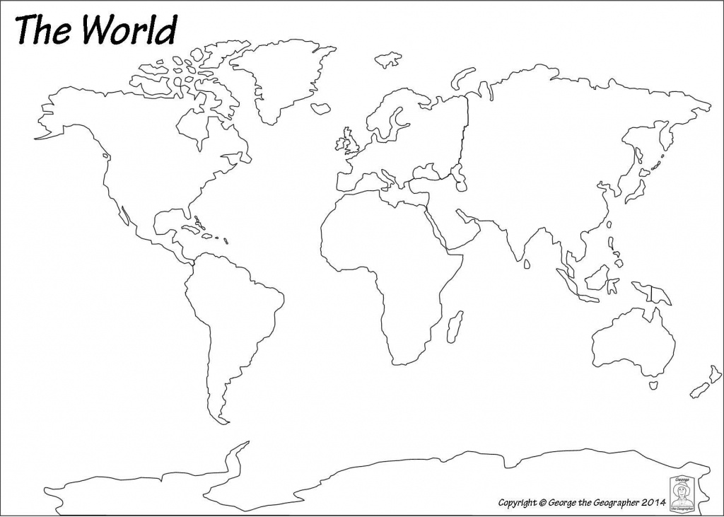 Blank World Map Pdf #3 | Art Class | World Map Continents, Blank - Blank World Map Printable Pdf