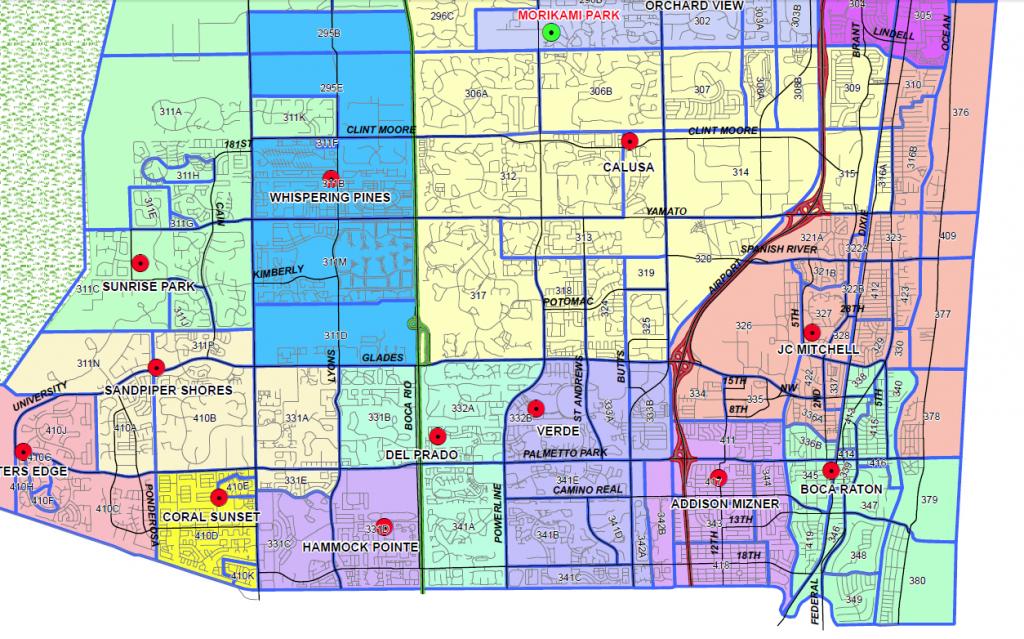 Boca Raton, Florida Public And Private Schools Information, Ratings - Boca Delray Florida Map