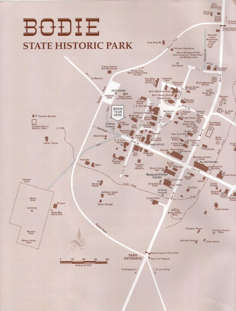 Bodie, Ca Map | Sheriff Ruskin Story | Map - Bodie California Map