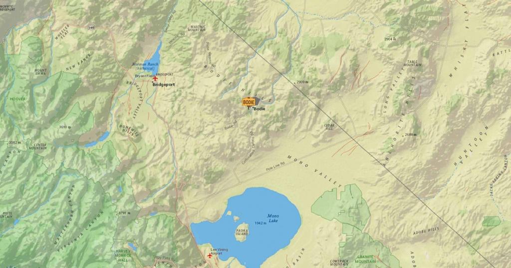 Bodie, California | Earthquake Map - Bodie California Map