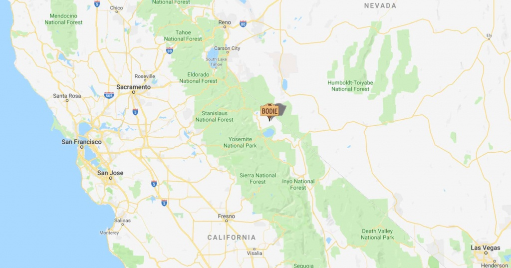 Bodie, California | Plan Your Trip To Bodie - Bodie California Map