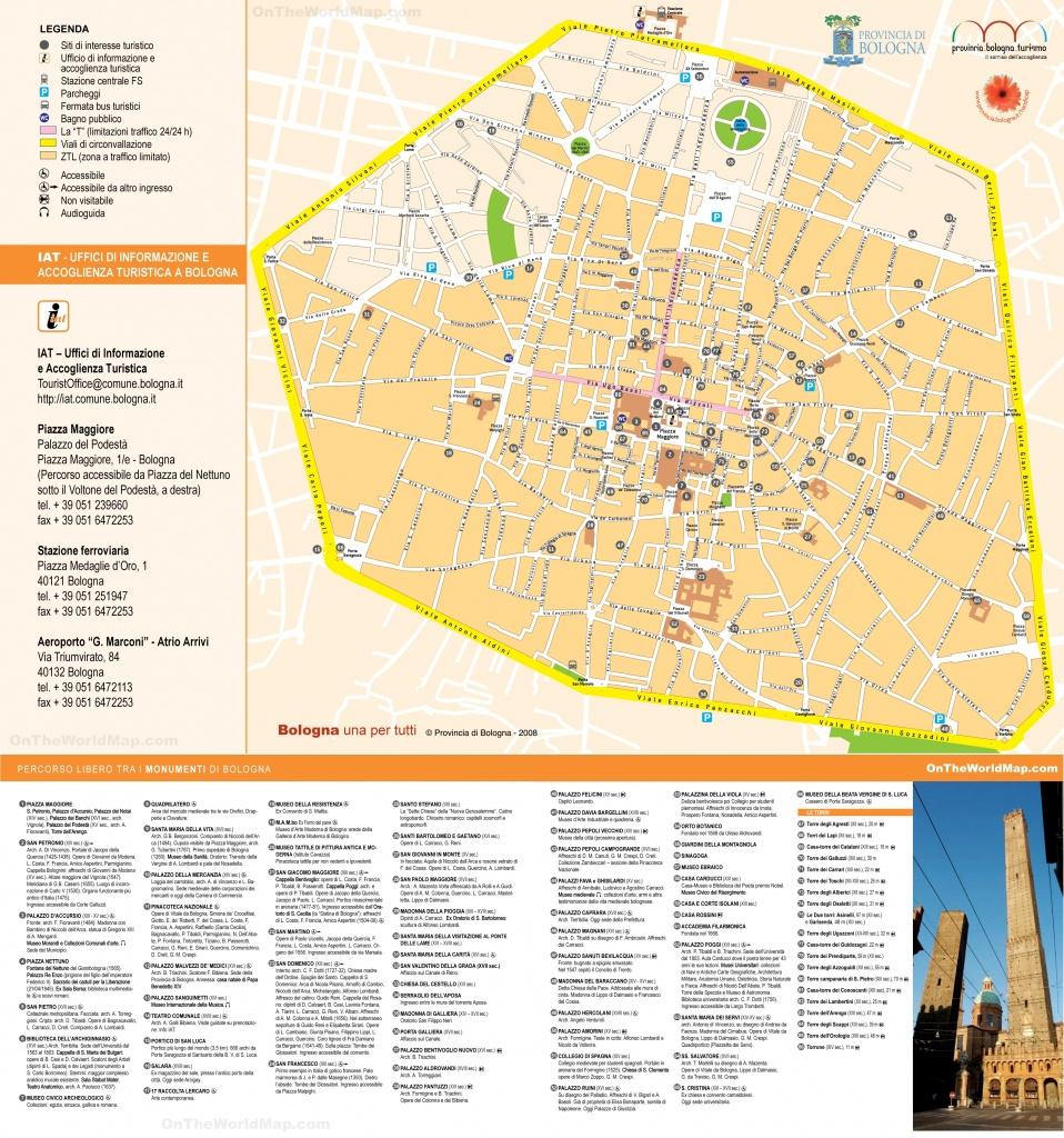 Bologna Sightseeing Map Cool Bologna Italy Map Tourist - Diamant-Ltd - Bologna Tourist Map Printable