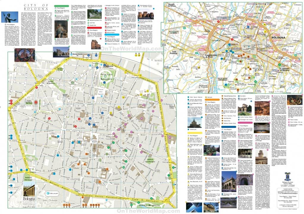 Bologna Tourist Map - Printable Map Of Bologna City Centre