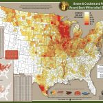 Boone & Crockett And Pope & Young Distribution Map 1996-2005 - Mule Deer Population Map Texas