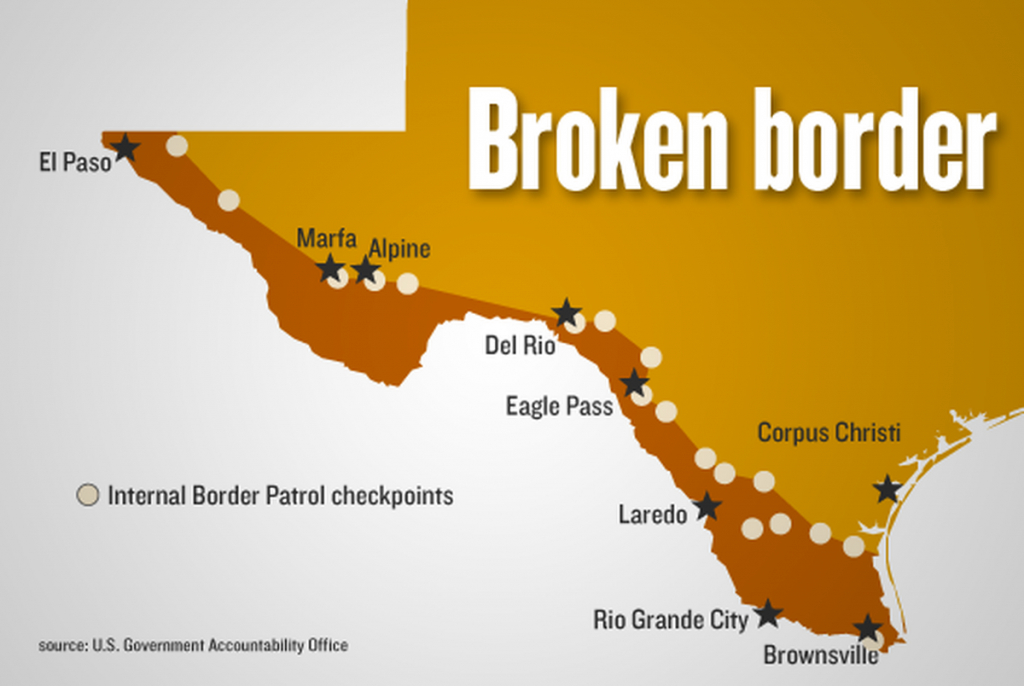 Border Checkpoints Limit Care For Kids | The Texas Tribune - Immigration Checkpoints In Texas Map