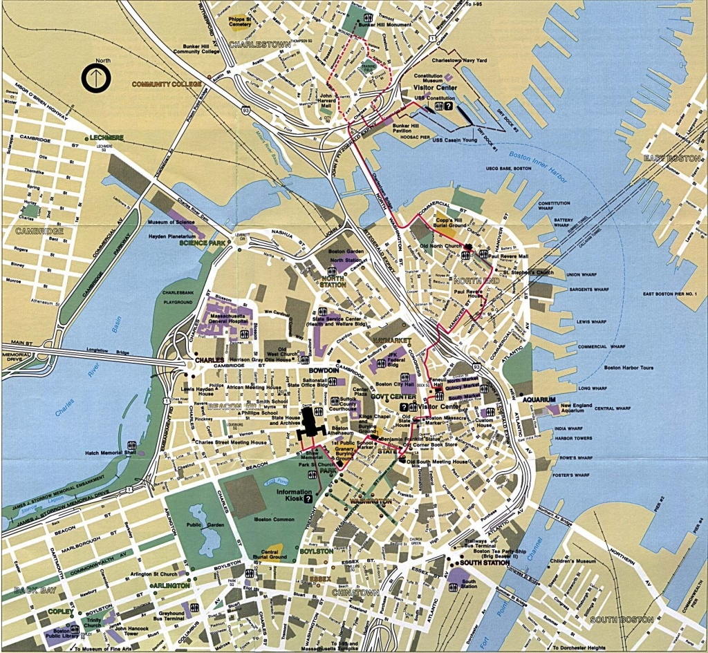 Boston - Google Search | The Beanboston Love In 2019 | Boston Map - Freedom Trail Map Printable