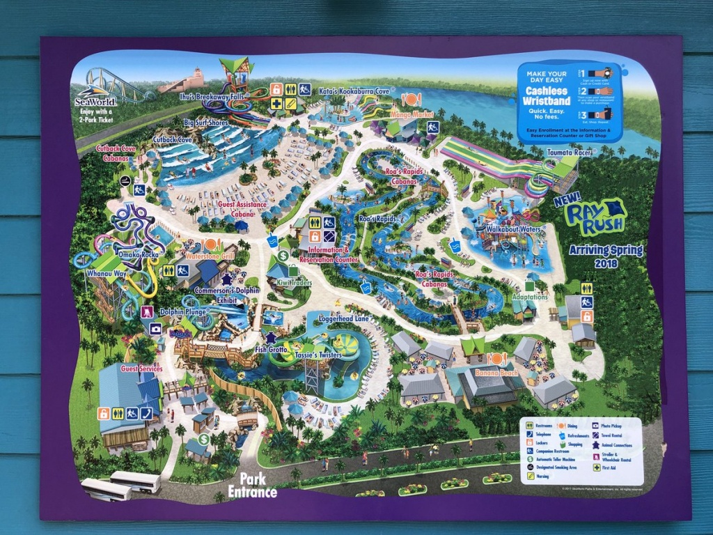 "Brandonblogs On Twitter: ""aquatica Park Map With Added Ray Rush Logo - Aquatica Florida Map"