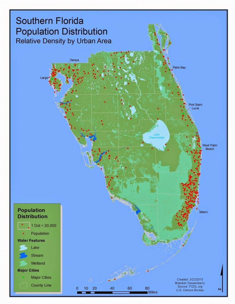 Brando's Gis Odyessy : Dot Maps And Southern Florida - Map Of S Florida