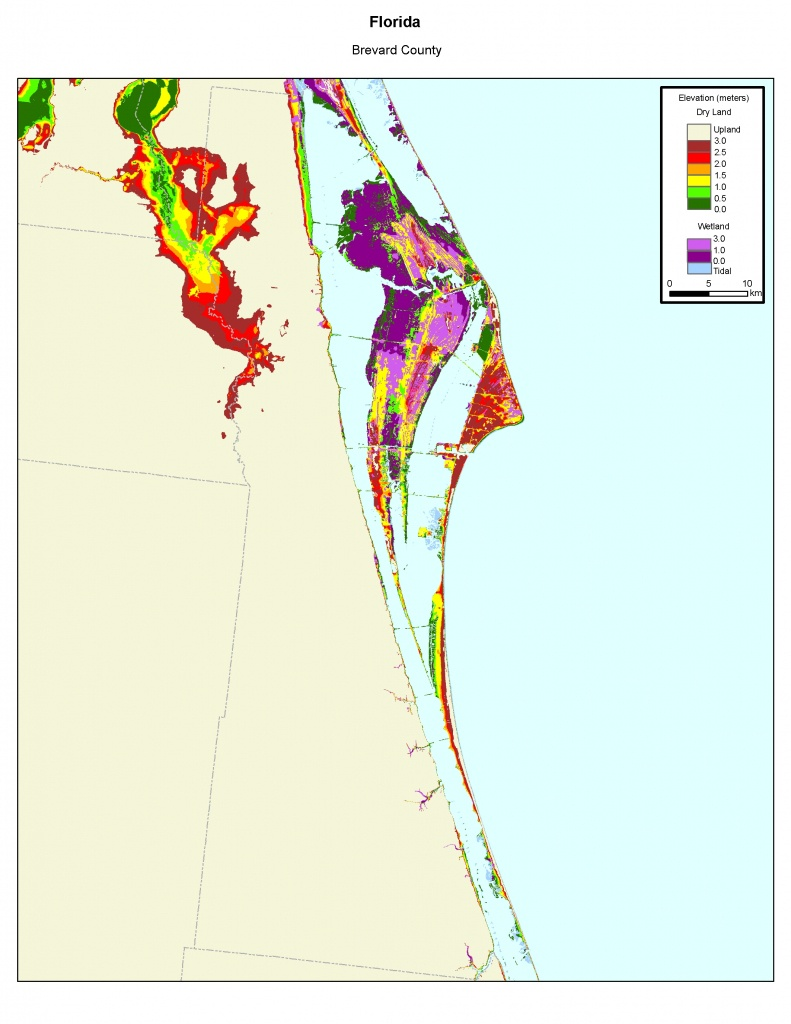 Brevard County Elevation Map | Campus Map - Florida Elevation Map By County