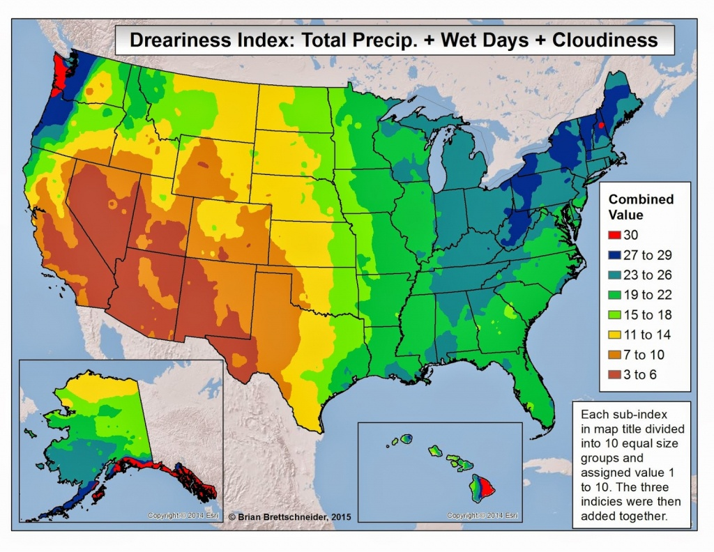 Brian B's Climate Blog: Dreary Weather - Florida Humidity Map