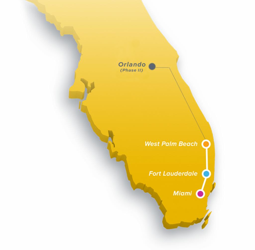 Brightline | The Palm Beaches Florida - Florida Brightline Map