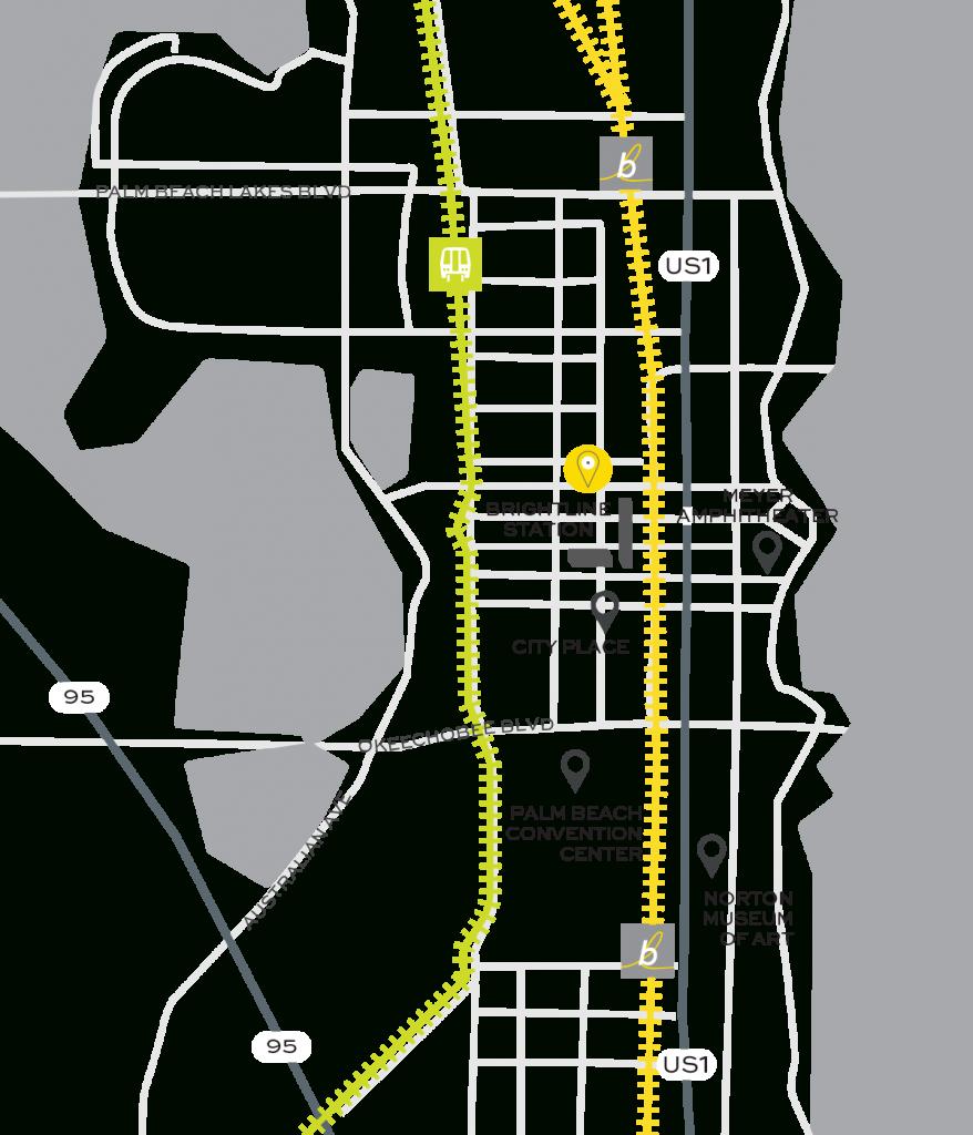 Brightline Train | Rosemary Square - Brightline Florida Map