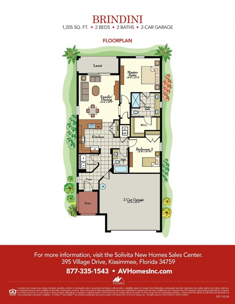 Brindini Floor Plan At Solivita In Kissimmee, Fl - Taylor Morrison - Solivita Florida Map