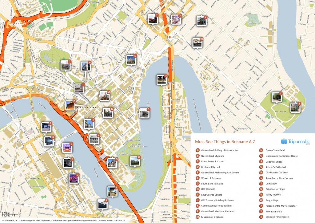 Brisbane Cbd Map Of Australia 9 - World Wide Maps - Brisbane Cbd Map Printable