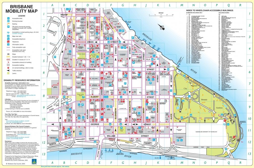 Brisbane City Center Map - Brisbane Cbd Map Printable